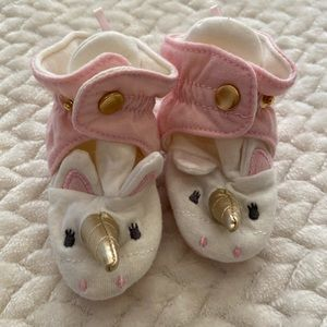 Baby Unicorn Booties - 0-3M